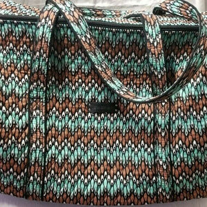 Vera Bradley Large Duffel Travel Bag Sierra Stream